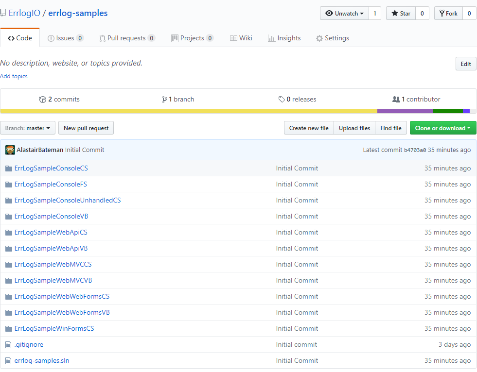 Our GitHub samples are now live - learn how to implement ErrLog.IO in your favourite framework.